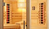 Sauna Kabine mit Infrarot