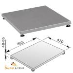 HARVIA Bodenplatte Schutzplatte Podest Fb. silber