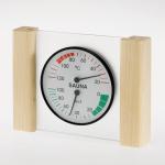 Klimastation - Thermo- / Hygrometer in Glas mit Holzrahmen Fichte