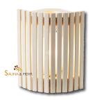 Holzblendschirm für Saunaleuchte zur Eckmontage ESPE