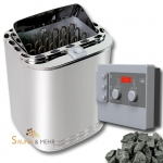 Technik-Set | Combi-Saunaofen 9 kW + Steuerung Combicontrol - incl. Saunasteine