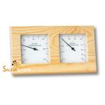"Sauna Klimastation ""Wave"" Thermometer u. Hygrometer - Gehäuse Nadelholz"