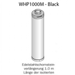 HARVIA Verlängerung für Edelstahlschornstein - 1000 mm Fb. Schwarz