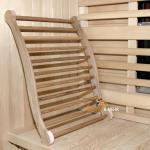 Sauna - Infrarot - Ergonomische Rückenlehne - Zeder hell