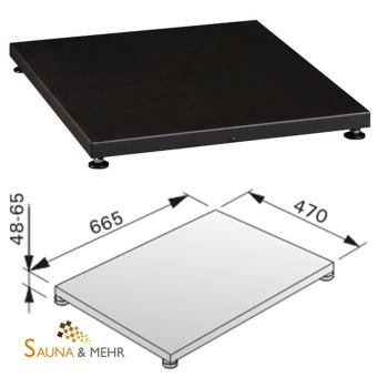 HARVIA Bodenplatte Schutzplatte Podest Fb. schwarz