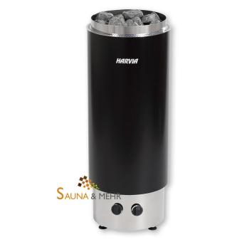 HARVIA Cilindro F Säulen Saunaofen mit integrierter Steuerung - geschlossen - Fb. schwarz