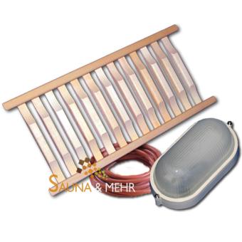 """Sauna Innenbeleuchtung  - Set """"Trend"""" für Eckmontage"""