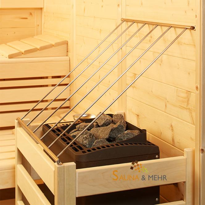 sauna und mehr shop schutzgitter edelstahl f r. Black Bedroom Furniture Sets. Home Design Ideas