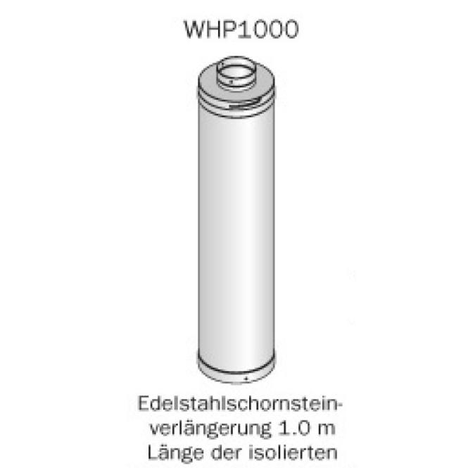 HARVIA Verlängerung für Edelstahlschornstein - 1000 mm