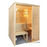 ALASKA Massivholz Saunakabine Mod. Mini 156 x 108 - Rechts