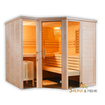ARKTIS Infra+ Massivholz Saunakabine 232 x 204 cm mit IR-System - Links