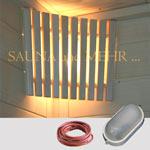 """Sauna Innenbeleuchtung  - Set """"Komfort"""" für Eckmontage"""