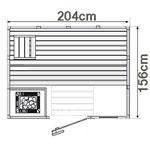 wood.LINE Classic Massivholz-Sauna - 204 x 156 cm - Links