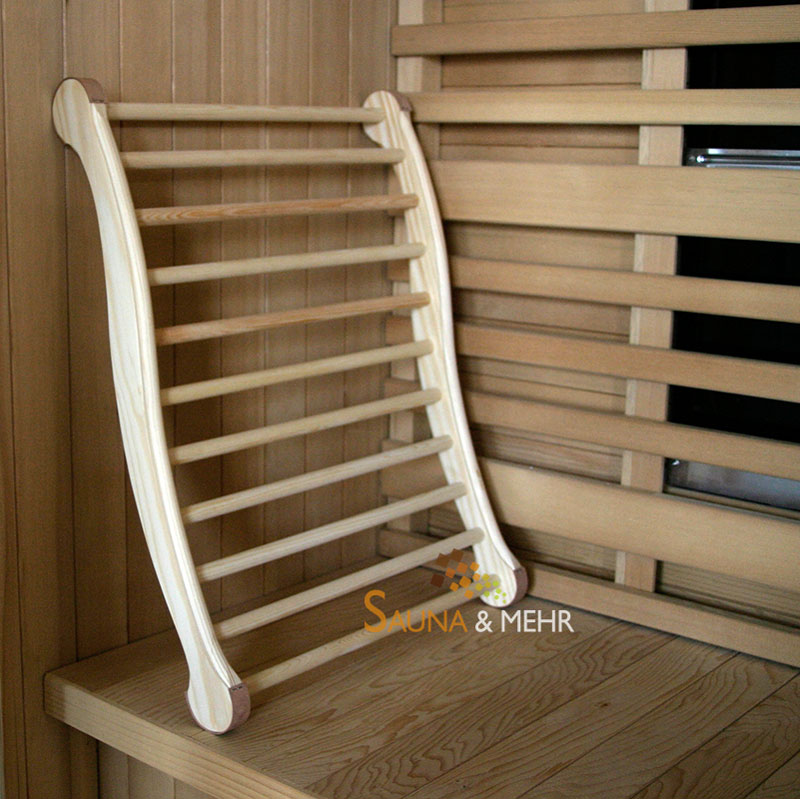 sauna und mehr shop sauna infrarot ergonomische r ckenlehne fichte online kaufen. Black Bedroom Furniture Sets. Home Design Ideas
