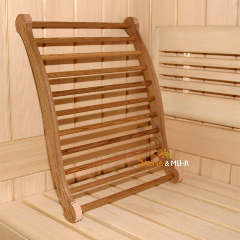 sauna und mehr shop sauna infrarot ergonomische r ckenlehne zeder dunkel online kaufen. Black Bedroom Furniture Sets. Home Design Ideas