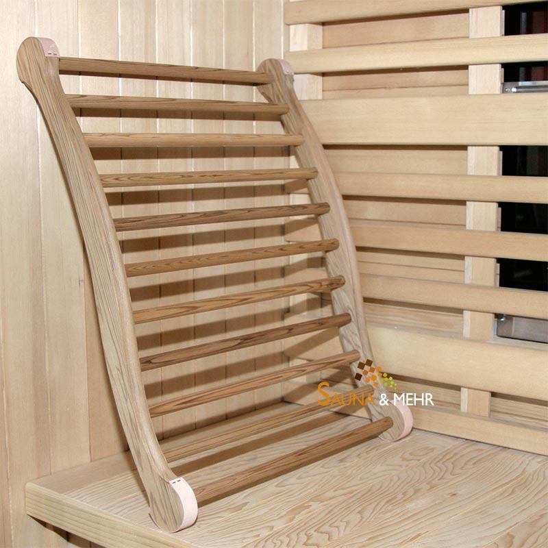 sauna und mehr shop sauna infrarot ergonomische r ckenlehne zeder hell online kaufen. Black Bedroom Furniture Sets. Home Design Ideas