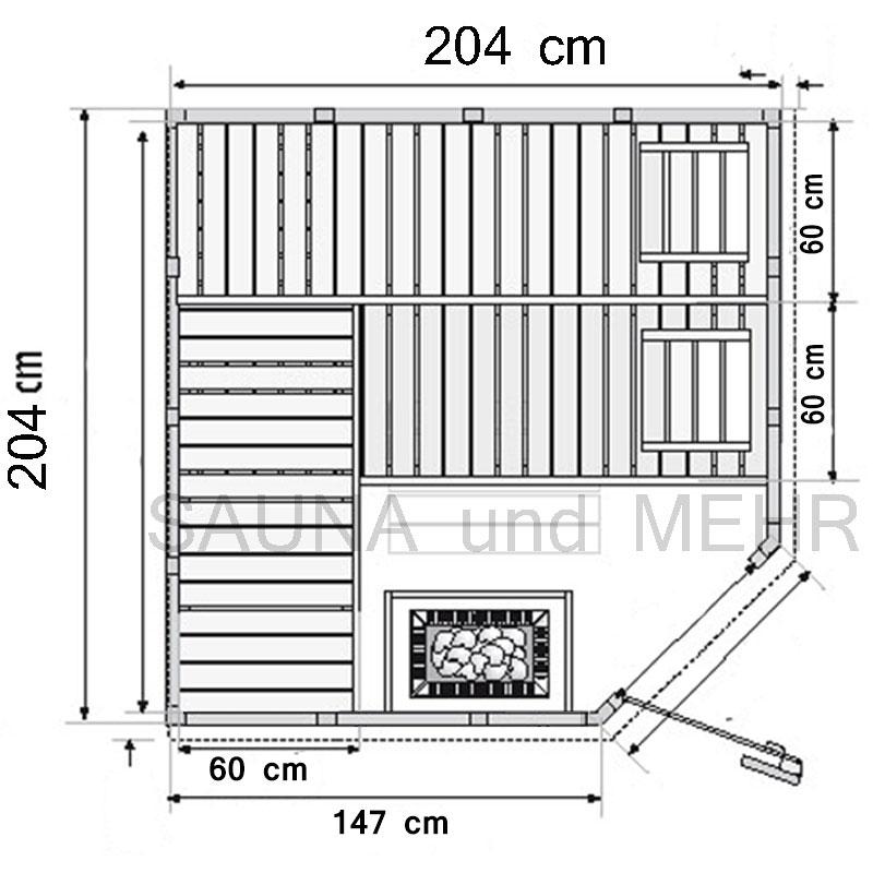 sauna und mehr shop komplett sauna well fun eck 204 x 204 eos technik set finnisch. Black Bedroom Furniture Sets. Home Design Ideas