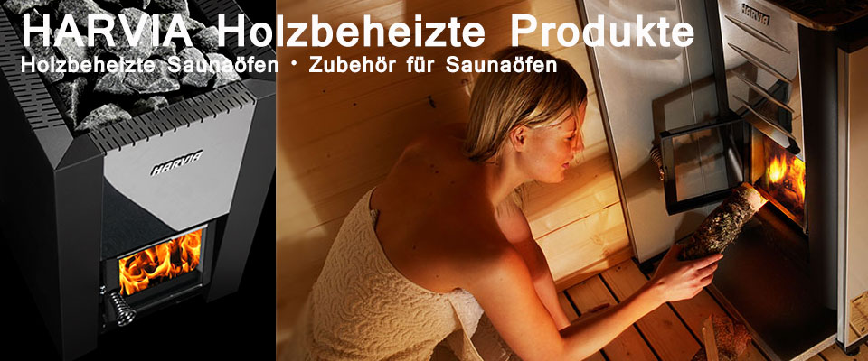 Banner Harvia Holz Saunaoefen